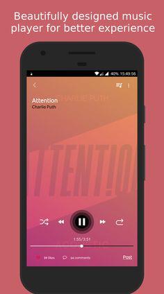 Swiunguff Music Player #SocialMusicPlayer , #MusicLover #MusicFan #Design #Android