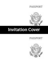DIY French Themed Party Invitations: Passport Invitation Cover | Hello Little Home