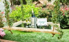 Floating Champagne Tray