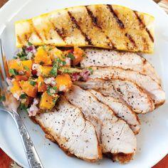 Smoked Paprika Turkey Tenderloin with Fresh Apricot-Ginger Relish