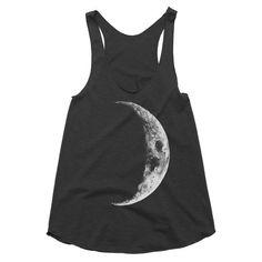 Crescent Moon Racerback Tank Moon Top Moon by JoellesEmporium