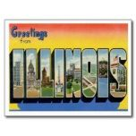 Greetings from ILLINOIS IL Post Card