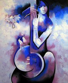 Melody 007 Painting by Arvind Kolapkar