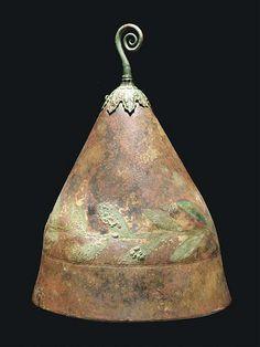 A Greek Bronze Pilos Type Helmet, 4th cent.BC