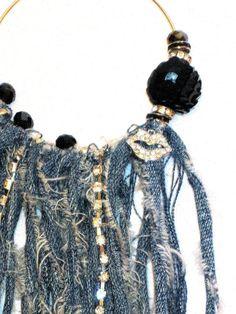 Diary of a Spoiled Diva: Spoiled Diva Denim Fringe Hoop Earrings