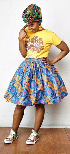 K A M A N I Belle Skirt Made with African Batik Wax - Maji Collection. Ankara   Dutch wax   Kente   Kitenge   Dashiki   African print dress   African fashion   African women dresses   African prints   Nigerian style   Ghanaian fashion   Senegal fashion   Kenya fashion   Nigerian fashion   Ankara crop top (affiliate)
