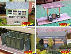 Some nice new paper models for Train Sets and Dioramas in OO and HO scales, by Wordsworth Model Railway website. You will find a Platform Shelter, Brown Brick Arched Retaining Wall, a Double Road Engine Shed, the Wordsworth Signal Box v.2, a Platform Gentlemen Toilet, a Timber Merchant and a Diesel Fuel Point.