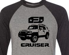 FJ Cruiser T-shirt-4x4 Tee,Off Road tshirt,Baseball T-Shirt-Off Road Gifts,gift for him,car gift, FJ Cruiser tee