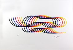 Yaacov Agam - from the Lines and Forms Suite