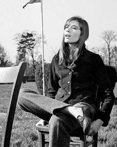 Françoise Hardy, tomboy in loafers