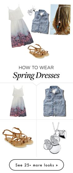 """""""Spring flowers"""" by the-branch-firm on Polyvore featuring Vero Moda, Abercrombie & Fitch, Disney and Accessorize"""