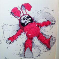 Bunny Reaper 2 by Norio Fujikawa, via Behance