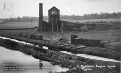Postcard Barnsley Canal (Engine House at Wintersett & Cold Hiendley Reservoir).