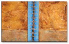 "Title: ""Wall Of Silence"" . Size: 22.4''X35.4'' , (57X90cm) . Medium: acrylic & mixed media on canvas . Year: 2013 . © art of Ioannis Tsaousidis"