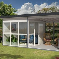 Every thought about how to house those extra items and de-clutter the garden? Building a shed is a popular solution for creating storage space outside the house. Whether you are thinking about having a go and building a shed yourself Plans Loft, Shed Plans, Garage Plans, Cabin Plans, Backyard Guest Houses, Pool Houses, Backyard Cottage, Backyard House, Studio Apartments