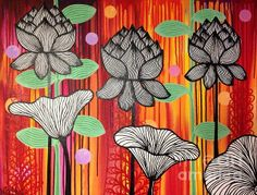 Lotus Painting  - Lotus Fine Art Print