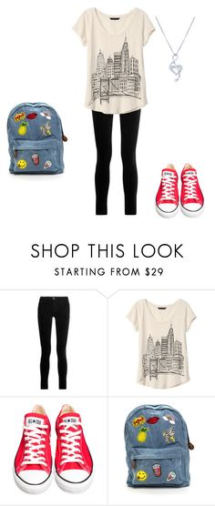 """""""Hello (female)"""" by asteve1998 ❤ liked on Polyvore featuring J Brand, Banana Republic, Converse and BERRICLE"""