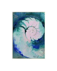 By Kathy Morton Stanion -  Sea Shell Watercolor Painting, Ocean - Abstract Painting. #kathymortonstanion  kathymortonstanion.com
