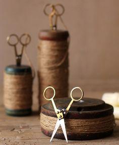 Wooden spools...