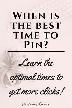Does it matter when you pin on Pinterest? Did you know that there are optimal times to pin your content on Pinterest? In this blog post, I'm sharing how to find your optimal times to pin as well as why it matters with the Smart Feed and new Following Tab on Pinterest. #blogging  #bloggingtips #socialmediamarketing #pinterest #pinterestmarketing #pinteresttips #vanessakynes