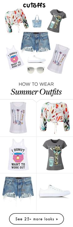 """""""day off outfit"""" by baska-m on Polyvore featuring T By Alexander Wang, Mara Hoffman, Human, Converse, Aimee Kestenberg and Ray-Ban"""