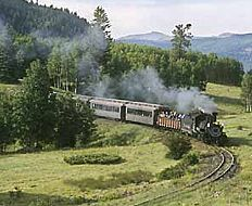 Chama, NM - Steam engine driven train to Durango, CO for a day trip. Train Tracks, Train Rides, Chama New Mexico, Old Steam Train, New Mexico Homes, Mexico Style, Land Of Enchantment, Best Vacations, Vacation Spots