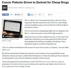 Cáncer patients driven to the dark net