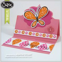 Sizzix Die Cutting Tutorial | Butterfly Stand Up Card by Jeanne Streiff