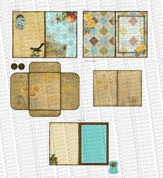 Page layouts for pictures or scrap book