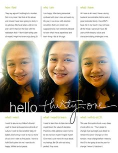 Hello 31 - All About Me page