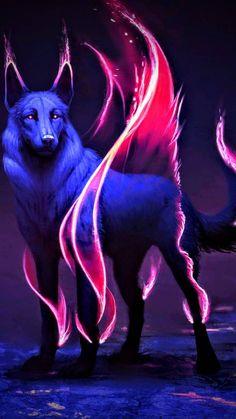 Neon wolf wallpaper by Blue_Phoenix_175 - c033 - Free on ZEDGE™