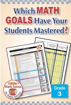Grade 3 Common Core Math EXCEL Goal Tracker Spreadsheet with