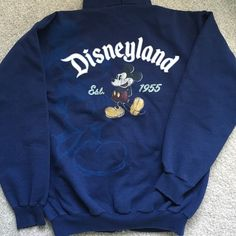 Men's M classic Disney sweatshirt hoodie Men's Medium sweatshirt from Disneyland, fits like woman's large - x-large. True navy blue color, in good condition. Freshly washed, don't see any flaws, just a little bit worn. Disney Tops Sweatshirts & Hoodies