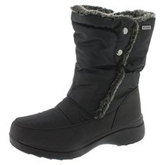 SoftMoc Womens Cassie Pull On Waterproof Winter Boot Black 8 M US >>> Want additional info? Click on the image.