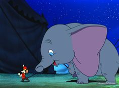 Dumbo is the Disney movie. It stars Dumbo, an elephant with big ears who is ridiculed for them. He meets a friend named Timothy Q. Disney Films, Disney Pixar, Disney Amor, Walt Disney, Disney And Dreamworks, Disney Characters, Dumbo Disney, Disney Magic, Disney Dream