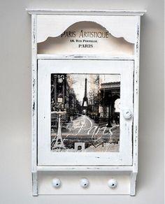 bibidekoracie / Paris skrinka na kľúče