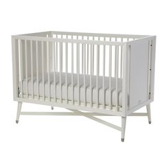 Found it at AllModern - Mid-Century 3-in-1 Convertible Crib in White
