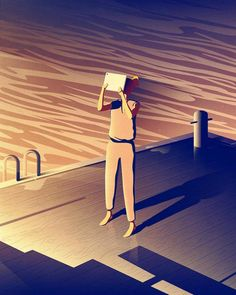 Jan Siemen adopts a vector style for his conceptual illustrations