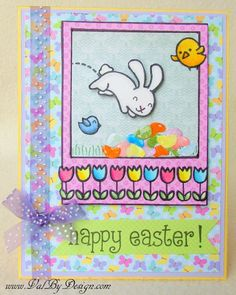 A Cute Easter Card with Lawn Fawn