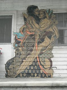 I love this New Orleans artist, Swoon. Thanks to @Whitney Stem for introducing me! Also, she has a show at NOMA this summer.