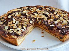 Tarte fondante à la crème fève Tonka poire et chocolat tp://www.carmen-cuisine.com/2016/01/tarte-fondante-a-la-creme-feve-tonka-poire-et-chocolat.html