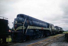 CNR Stratford Ontario June 1959 Kodachrome streamlined 4-8-4 6403 in dead-line.