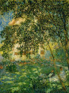 Claude Monet – Relaxing in the Garden