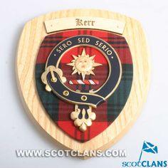 Kerr Clan Crest Wall Plaque