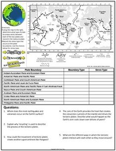 exploring plate tectonics worksheet lesson planet 6th grade science pinterest geograf a. Black Bedroom Furniture Sets. Home Design Ideas