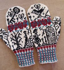 Den Hemmelige Hagen (The Secret Garden) mittens knitting pattern