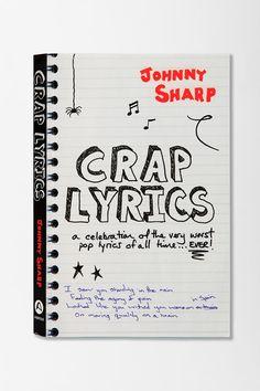 Crap Lyrics By Johnny Sharp  #UrbanOutfitters $12.95