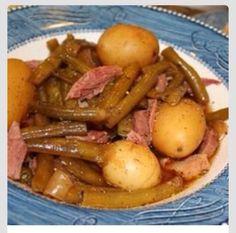 Slow Cooker Green Beans, Ham, And Potatoes #Food #Drink #Trusper #Tip