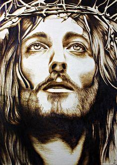 Christian Drawings, Christian Artwork, Christian Images, Jesus Christ Painting, Jesus Artwork, Jesus Christ Drawing, Jesus Drawings, Christ Tattoo, Face Stencils