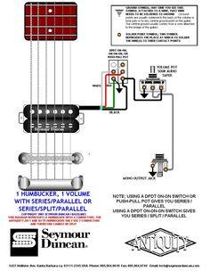 seymour duncan wiring diagram 2 humbuckers 2 vol 3 way Electric Guitar Pickup Wiring Diagram